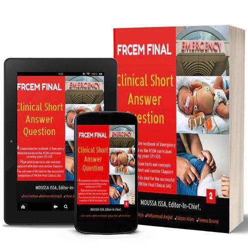 FRCEM Final-Clinical SAQ 2020 Edition, Full Colour Volume 1&2  + ebooks 1&2