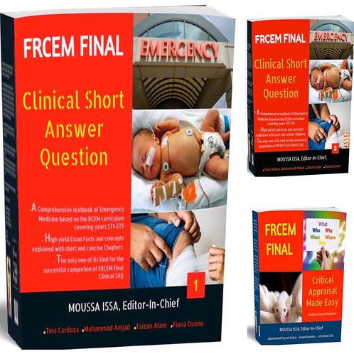 FRCEM Final Package: Clinical SAQ1 & SAQ2 + Critical Appraisal (2020 Edition)