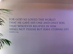 A statement piece in a church foyer