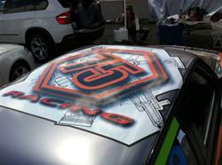Racecar full wrap - roof