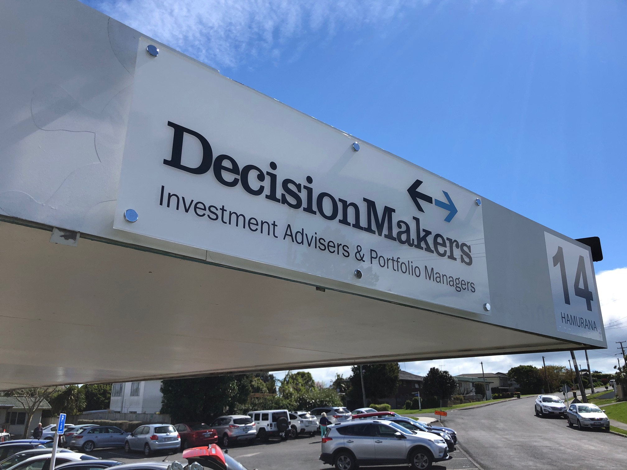 DecisionMakers acrylic sign