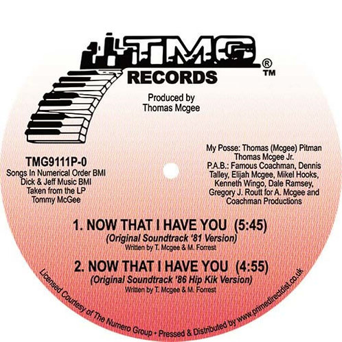 Tommy McGee 'Now That I Have you' RSD (TMG Records)