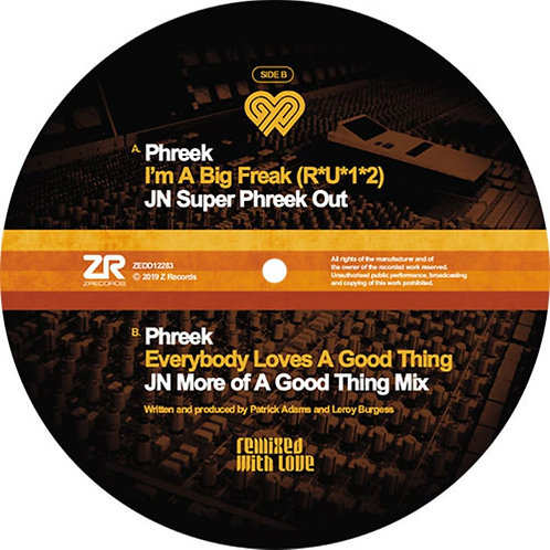 Phreek 'Remixed With Love by Joey Negro' (Z Records)