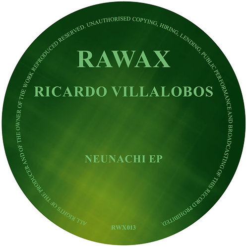 Ricardo Villalobos 'Neunachi EP' (RAWAX)