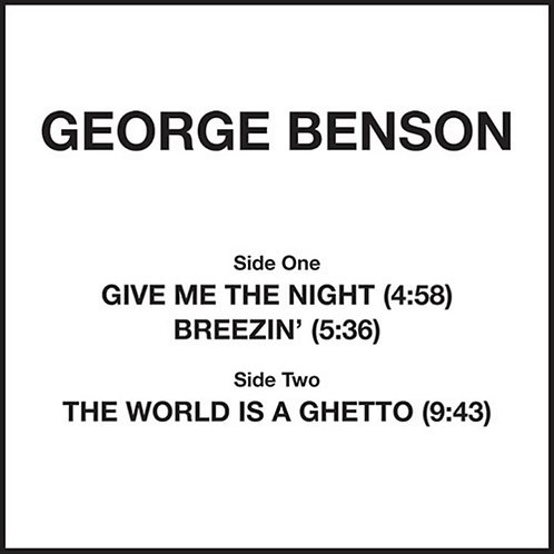 George Benson 'Give Me The Night' (Groovin Recordings)