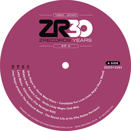 Dave Lee presents 30 Years of Z Records 'EP 4' (Z Records)