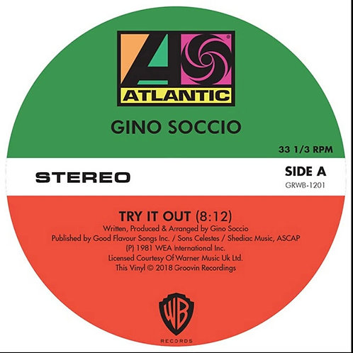 Gino Soccio 'Try It Out / Dancer / It's Alright' (Groovin Recordings)