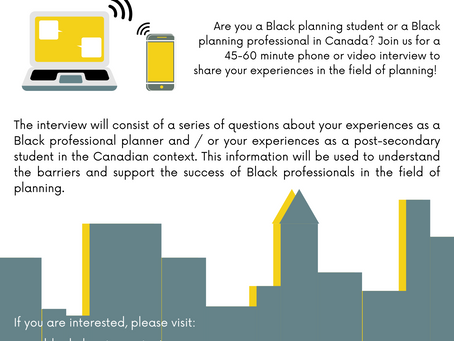 Participate in a study of Black students and Black professionals in planning!