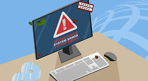 picture of computer with a system error needing an on-site or on-location computer repair in cape coral swfl