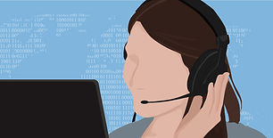picture of a remote support operator on a headset in front of a computer screen working on a remote support client repair in cape coral swfl