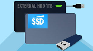 picture of a 1tb hdd and ssd for data backup services in cape coral swfl