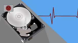 picture of a bad sata hard drive HDD for data recovery services in cape coal swfl