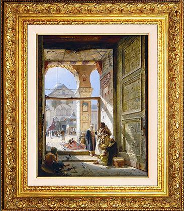 Emevi Camii Avlu Kapısı - Şam || Gustav Bauernfeind