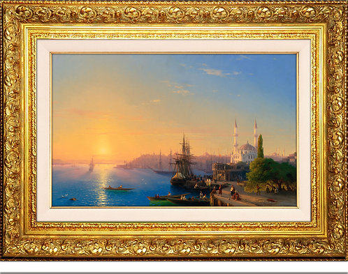 İstanbul ve Boğaz Manzarası    Ivan Konstantinovich Aivazovsky (1817-1900)