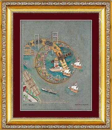 Özgün Minyatür Çalışması || İstanbul ve Fatih'in Kılıcı