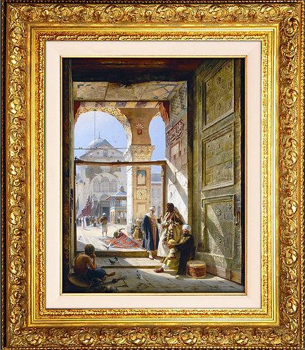 Emevi Camii Kapısı-Şam || Gustav Bauernfeind (1848-1904)