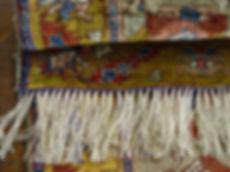 riparazione frange dei tappeti.