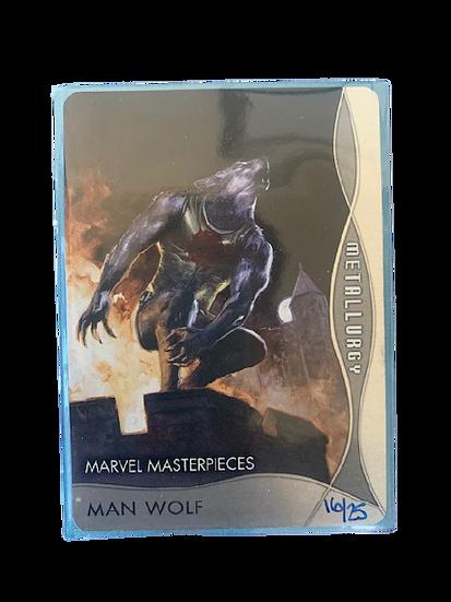 2020 MARVEL MASTERPIECES MAN WOLF M-4 #16/25