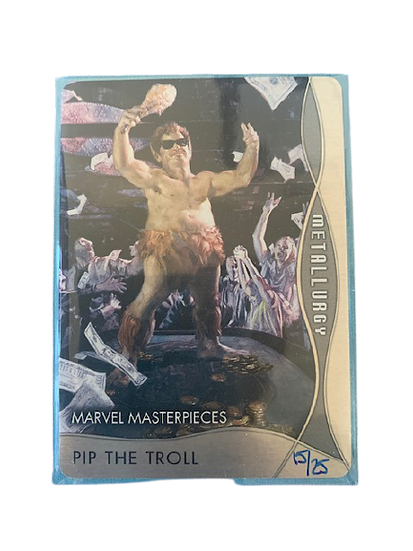 2020 MARVEL MASTERPIECES PIP THE TROLL M-49 #15/25