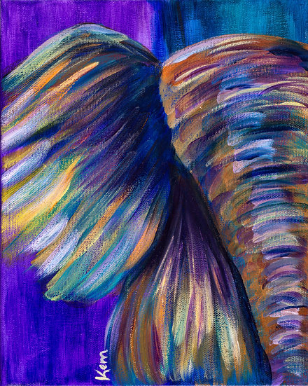 Abstract Elephant (Blue)