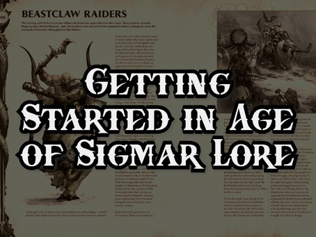 Getting Started in Age of Sigmar Lore