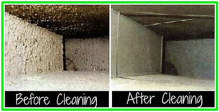 Air ducts andHVAC systems before and after cleaning