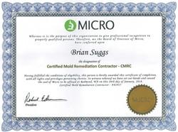 CMRC Certificate