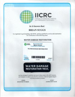 Water Damage Certification