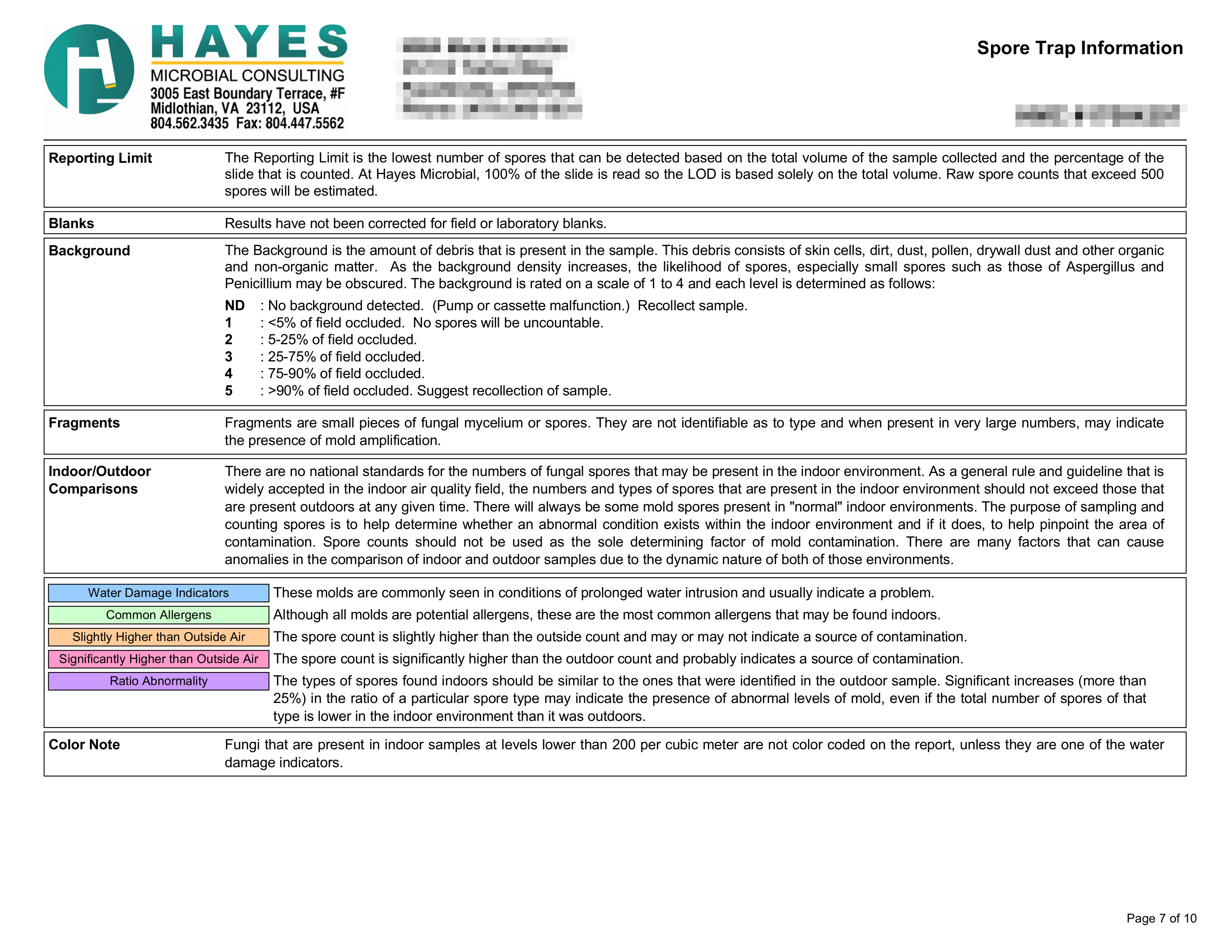 Clearance Report Page 7