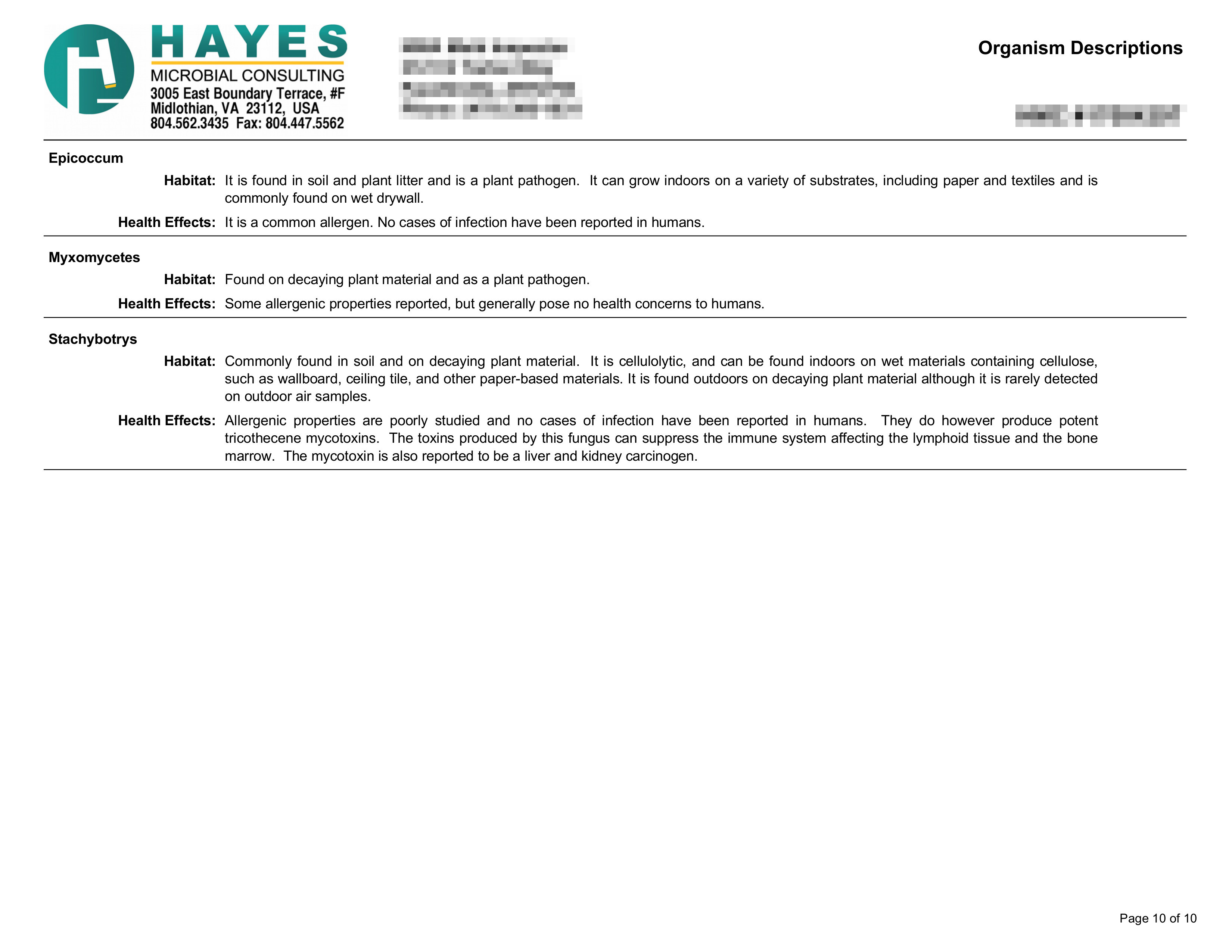 Clearance Report Page 10