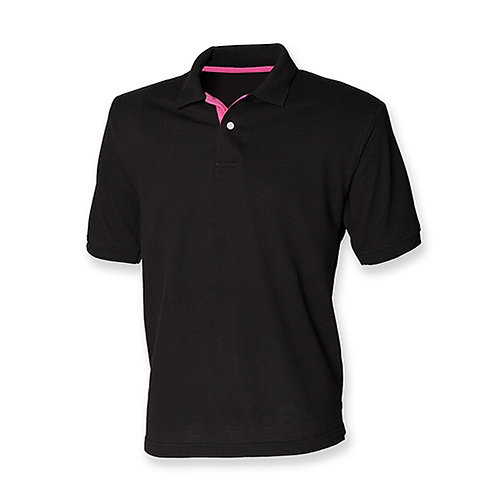 Henbury Contrast Polo Mens - H420