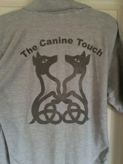 Canine Touch Back Fuzzy Logo