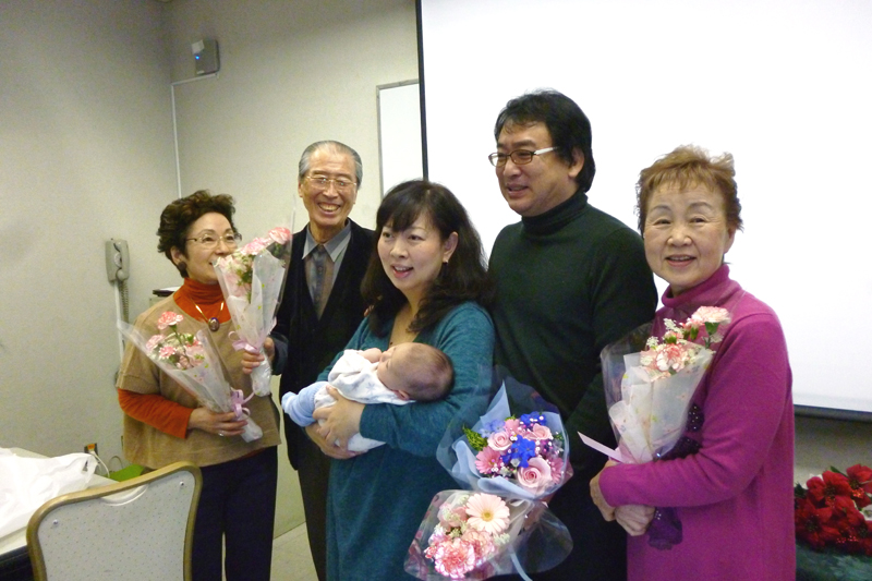 2012年12月 教会でクリスマス愛餐会