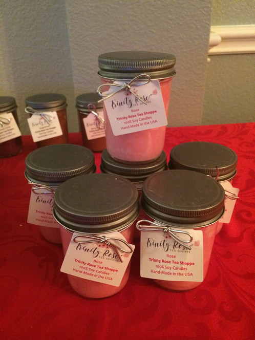 Rose 100 Soy Candle 8 Oz Jelly Jar