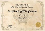 Tea charm reading certificate.JPG