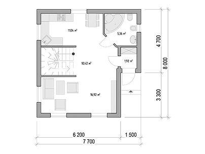 План каркасного дома для проекта 09