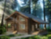 строительство домов из оцилиндрованного бревна. ОБ18