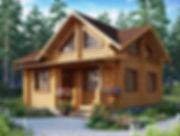 строительство домов из оцилиндрованного бревна. ОБ13