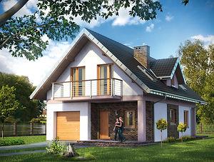 Строительство домов из блока и кирпича. Проект Т13