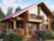 строительство домов из оцилиндрованного бревна. ОБ10