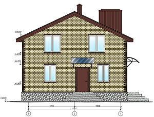 Строительство домов из блока и кирпича. Проект Т28