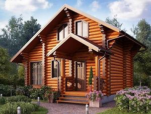 строительство домов из оцилиндрованного бревна. ОБ3