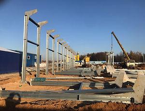 Монтаж конструкций (цех, ангар) из ЛСТК (Легкие стальные конструкции)