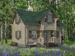 строительство домов из оцилиндрованного бревна. ОБ4