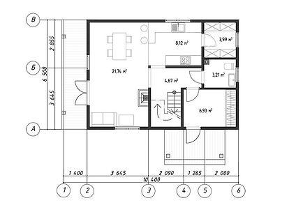 План каркасного дома для проекта 12