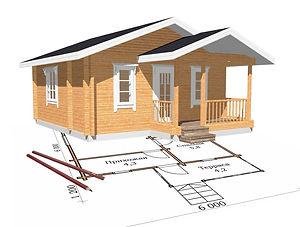 строительство дачных домиков, строительство дачных домов. проект Д4
