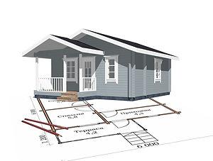 строительство дачных домиков, строительство дачных домов. проект Д3.