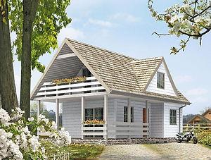 Строительство каркасных домов в Твери и Московской области. Проект 10