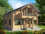 строительство домов из оцилиндрованного бревна. ОБ14