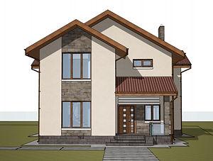 Строительство домов из блока и кирпича. Проект Т25
